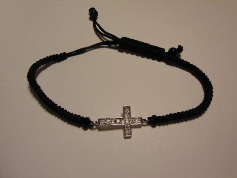 Peace Bracelet - Silver Cross
