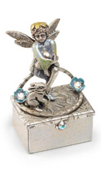 Tooth Fairy Pixie with Bunny - Silver 🇺🇸