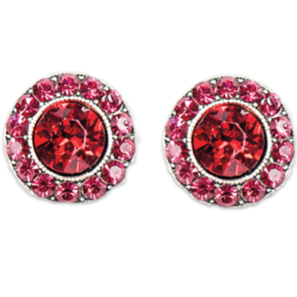 Ruby Siam Stud Earrings