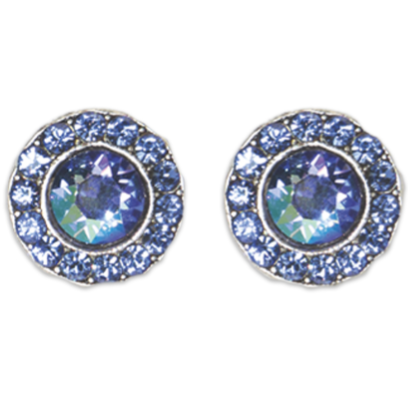 Double Sapphire Stud Earrings