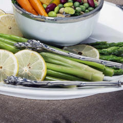 Pewter Asparagus Tongs