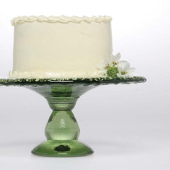 Recycled Glass Cake Platter - Assorted Colors - The Prince's Table  - 2