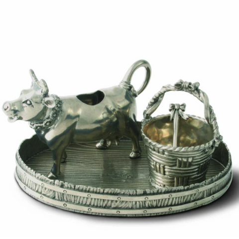 Pewter Cow Creamer Set