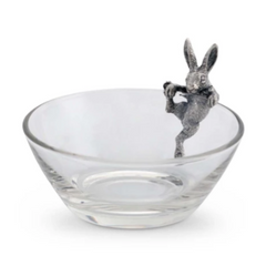 Dip Bowl with Pewter Bunny