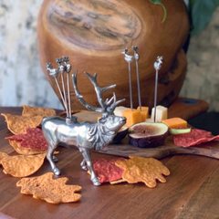 Elk Pewter Cheese Pick Set