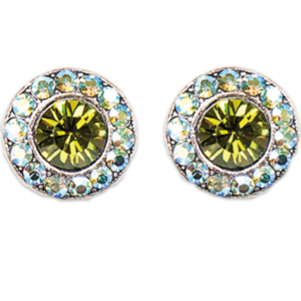 Olivine Peridot Stud Earrings