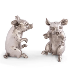 Pewter Pig Salt and Pepper Set