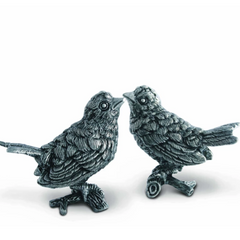 Pewter Song Birds Salt and Pepper Set