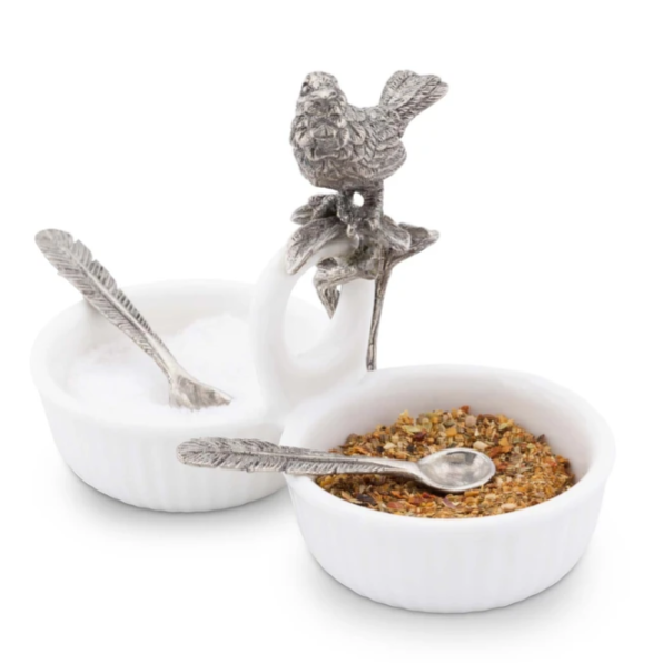 Song Bird Double Salt Cellar
