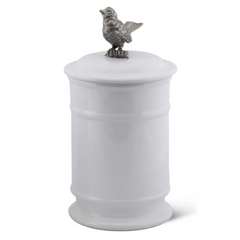 Song bird Stoneware Canister