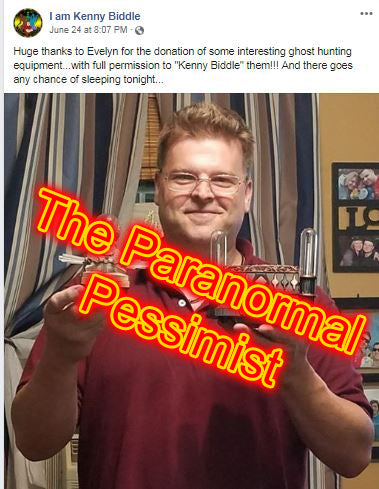 """Belittling"" the Paranormal Field, The Kenny Biddle story"