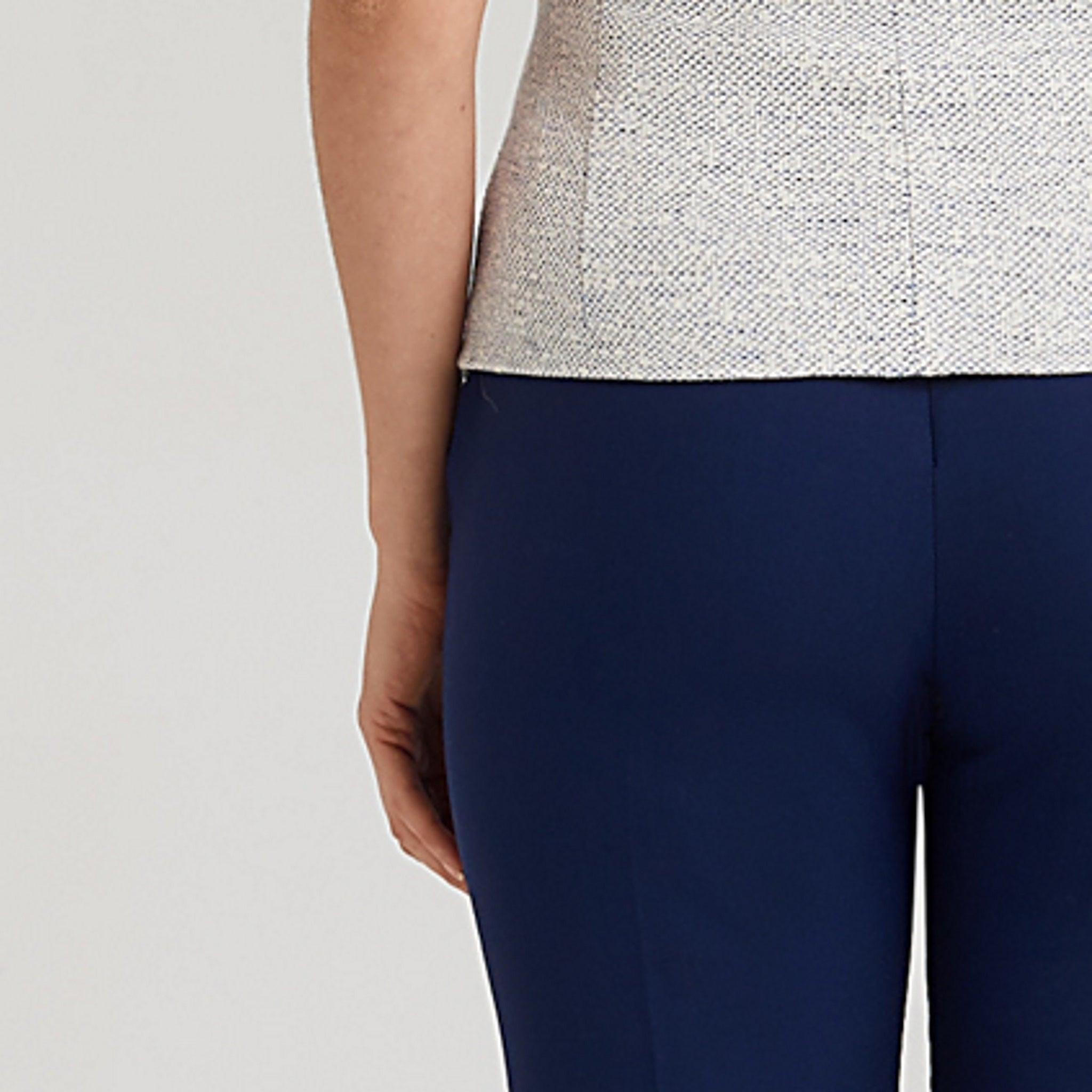 Tailored blue trousers made from stretch premium wool