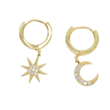 Load image into Gallery viewer, Celestial Star Earrings