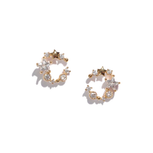 Load image into Gallery viewer, The Pearl Moon Stud Earrings