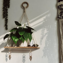 Load image into Gallery viewer, Bamboo Macrame Knotted Shelf