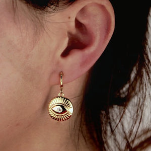 Evil Eye Mini Hoop Earrings