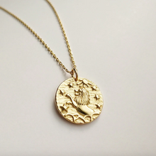 Load image into Gallery viewer, Lion's Mane Coin Necklace