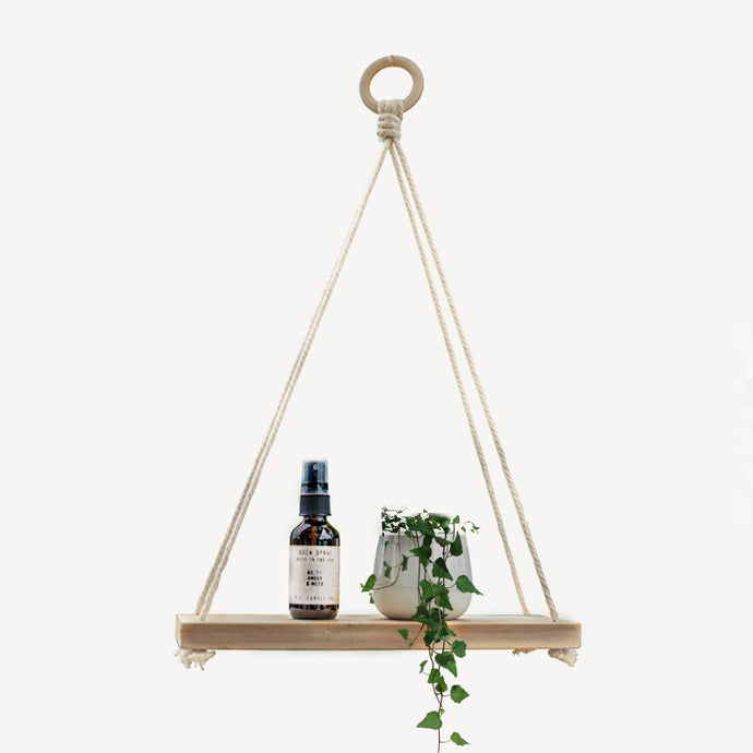 macrame hoop wood wall shelf bohemian minimalist modern home decor