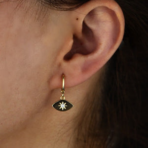 North Star Charm Earrings