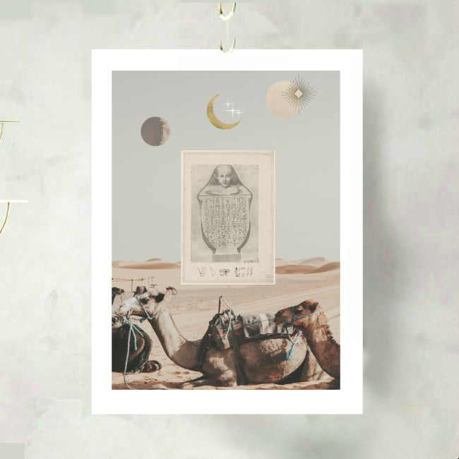 The Egyptian Scroll Art Print