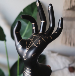 Palmistry Hand Ring Holder