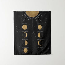 Load image into Gallery viewer, Moon Phase Calendar Tapestry