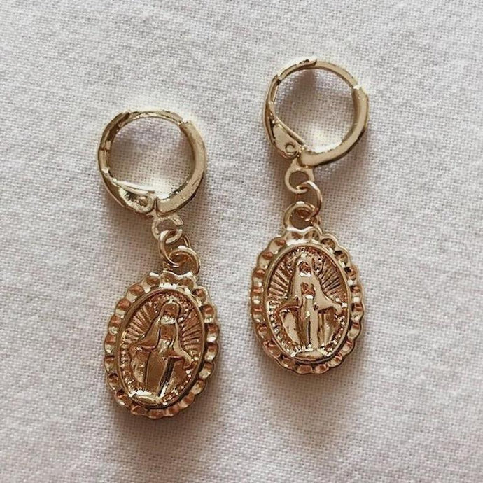 Goddess Gold Coin Earrings