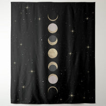 Load image into Gallery viewer, Phases of the Moon Tapestry