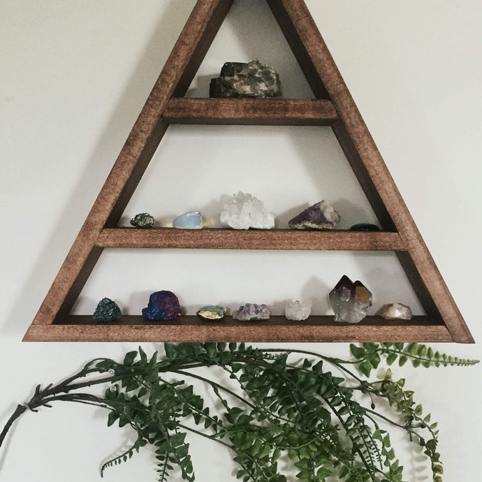 Wood Triangle Wall Shelf