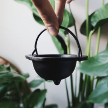 Load image into Gallery viewer, Mini Cast Iron Cauldron
