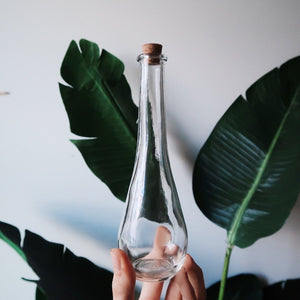 Tall Glass Apothecary Bottle