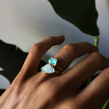 Load image into Gallery viewer, Raw Australian Opal Stackable Ring