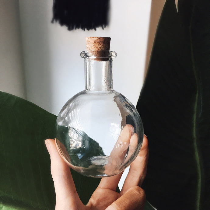 Glass Apothecary Potion Bottle