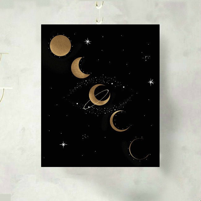 Moon Phases Celestial Art Print
