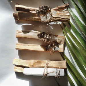 Wire Wrapped Palo Santo Crystal Kit