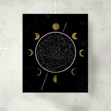 Load image into Gallery viewer, Moon Phase Celestial Constellation Art Print