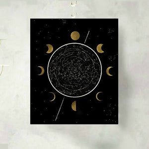 Moon Phase Celestial Constellation Art Print