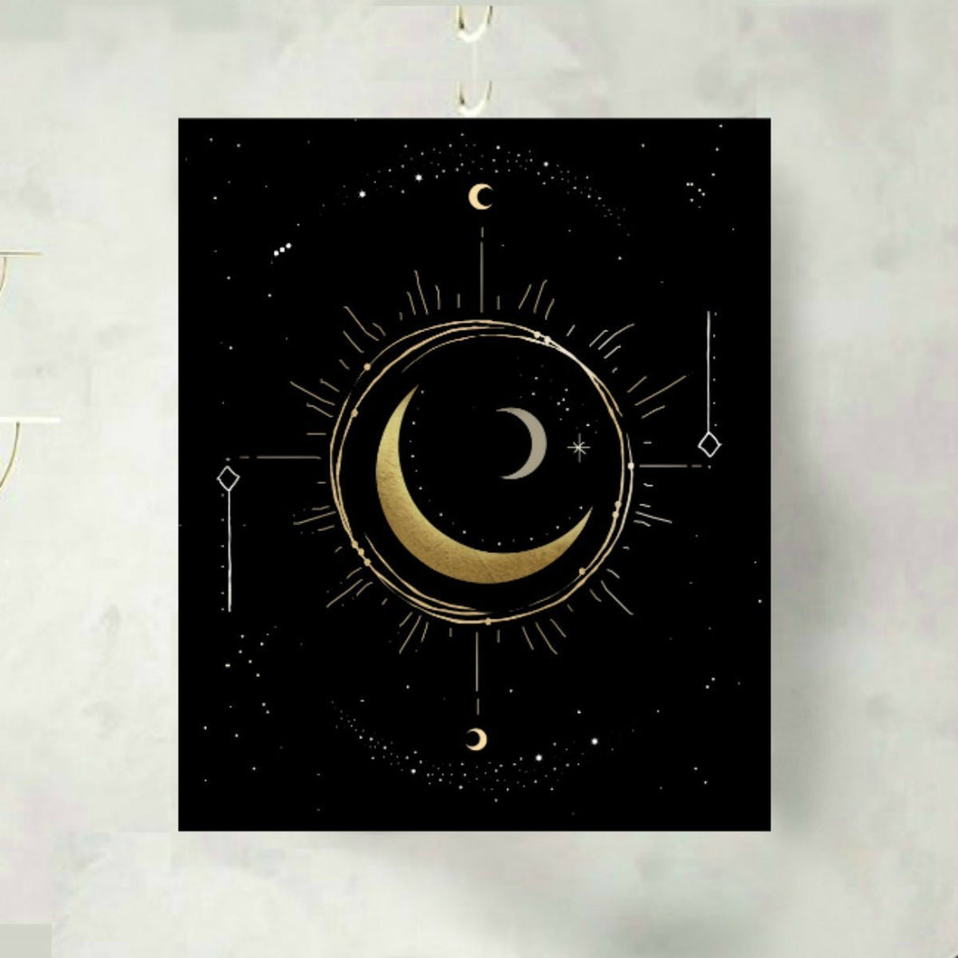 Moon Phase Time Turner Art Print