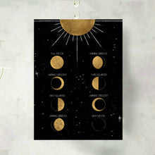 Load image into Gallery viewer, Moon Phase Calendar and Art Print