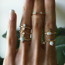 Load image into Gallery viewer, Opal Evil Eye Stackable Ring