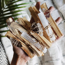 Load image into Gallery viewer, Wire Wrapped Palo Santo Crystal Kit