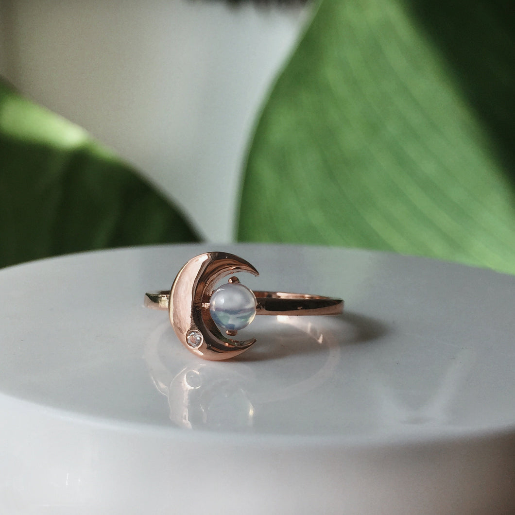 The Moonstone Crescent Ring