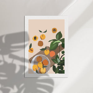 Peachy Abstract Art Print