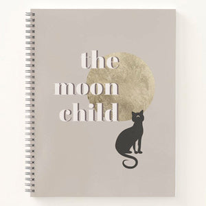 The Moon Child Spiral Notebook