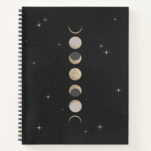 Moon Phase Spiral Notebook