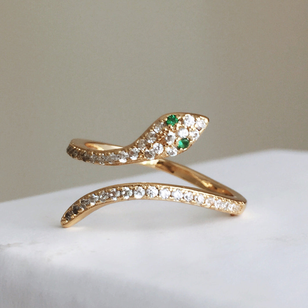 The Sylvia Serpent Ring