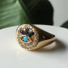 Load image into Gallery viewer, The Annika Evil Eye Ring