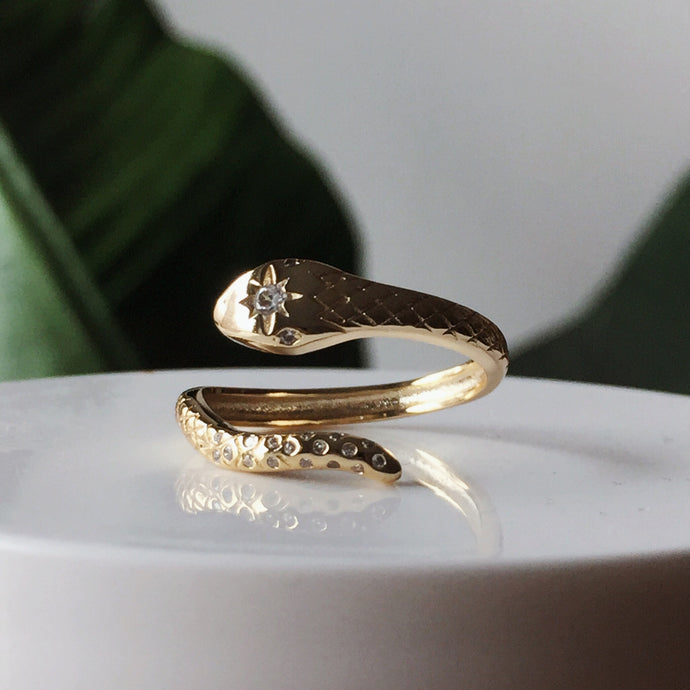 The Ivy Serpent Ring