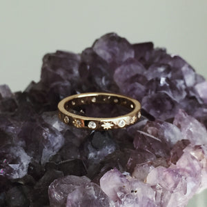 The Moon and Stars Stacking Ring