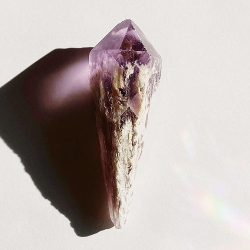 Raw Amethyst Crystal Point